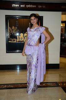 Actress Jacqueline Fernandez Pictures in Sri Lankan Traditional Saree at Cinnamon el  0013