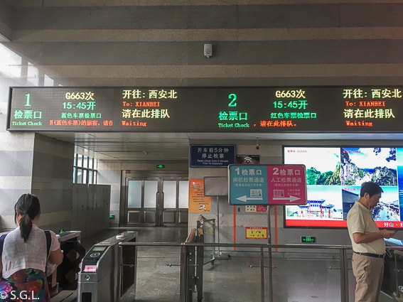 Tren bala para viaje a Xian desde Pekin