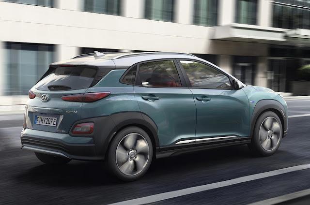 New Hyundai Kona Electric  back view