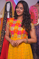 Pujitha in Yellow Ethnic Salawr Suit Stunning Beauty Darshakudu Movie actress Pujitha at a saree store Launch ~ Celebrities Galleries 046.jpg