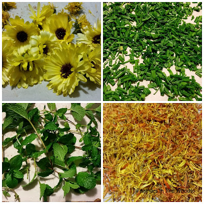 How to oven dry fresh flowers and herbs
