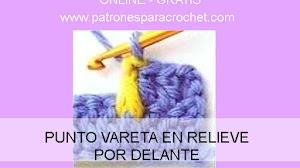 Cómo tejer una vareta en relieve por el frente / Aprende Crochet