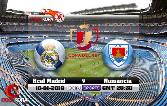 مشاهدة مباراة ريال مدريد ونومانسيا اليوم 10-1-2018 في كأس ملك أسبانيا