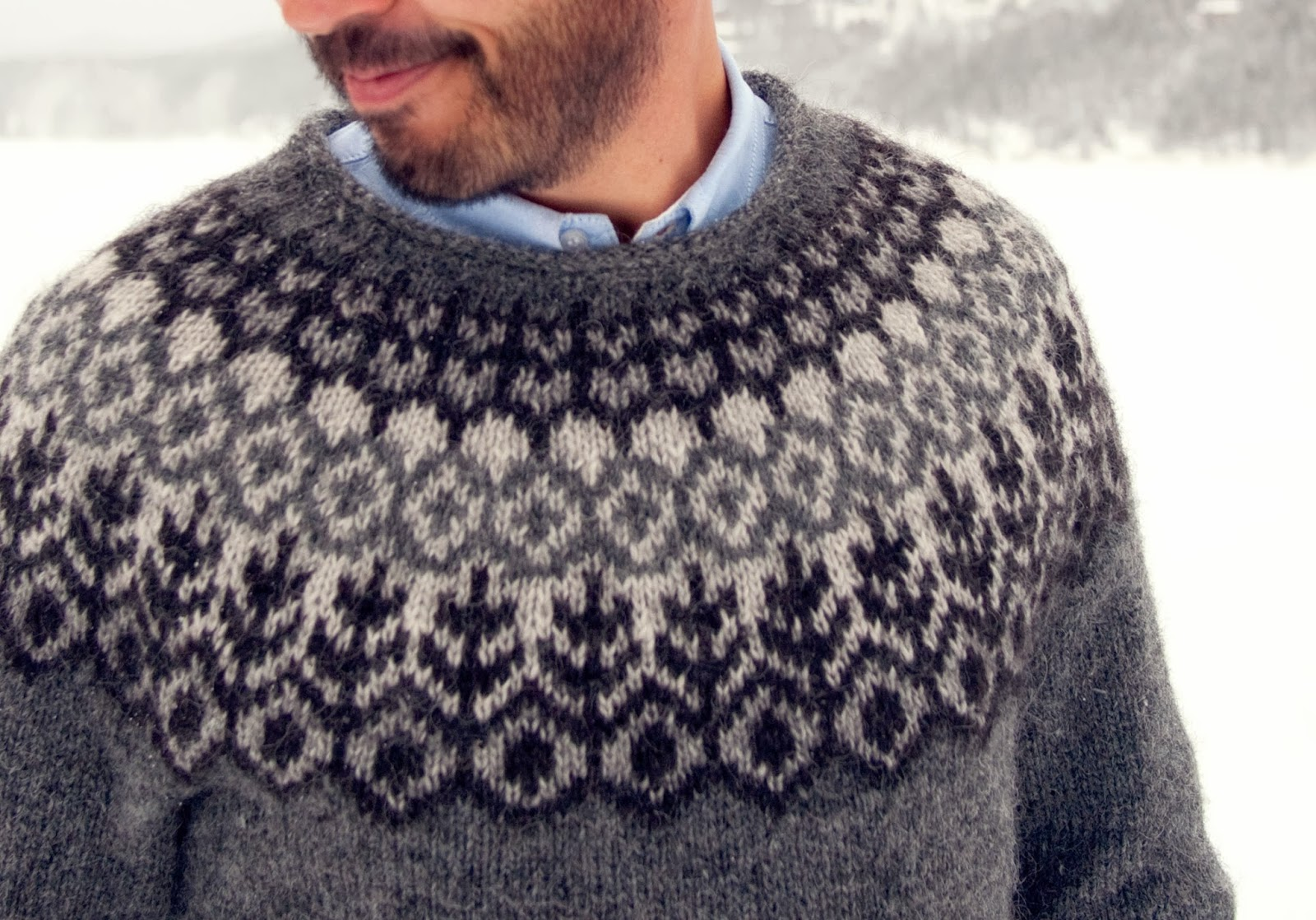 ec24b83da72e6 Eddie s new sweater was finished in time for our most recent snowstorm and