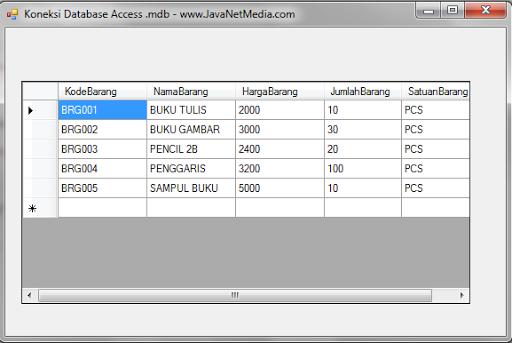 VB .NET - Cara Koneksi Database Access (.mdb)