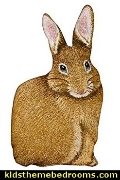 Bunny Hop Hare Raising Rabbit Shaped Pillow