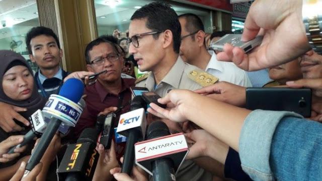 Komentar Sandiaga Soal Maraknya Baliho Capres di Jalanan Ibu Kota
