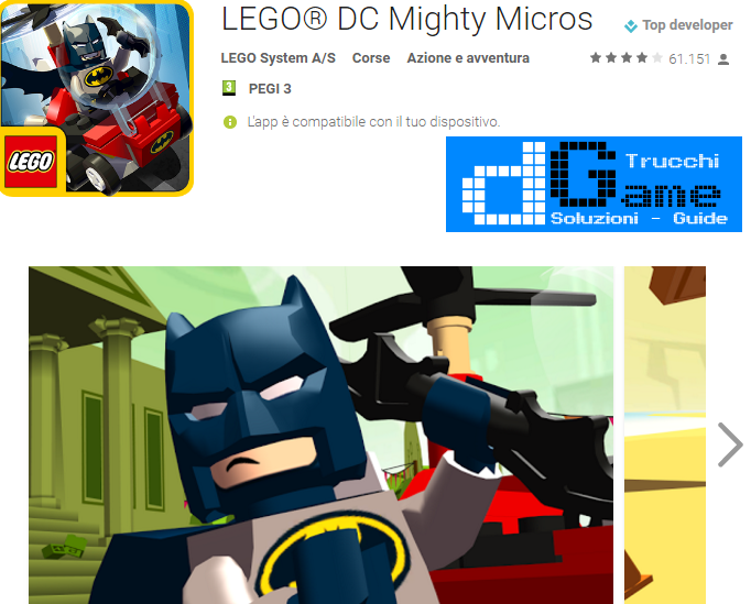 Trucchi LEGO® DC Mighty Micros Mod Apk Android 4.01