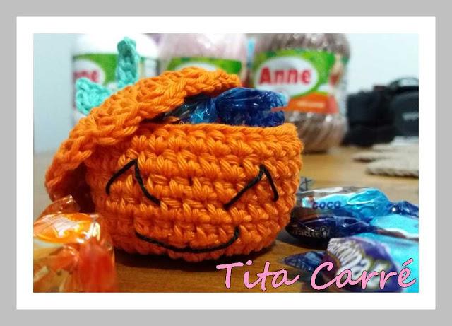 Mini cesta Cabeça de abóbora Jack
