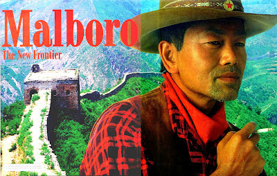 Smoking Malboro ad in Asia