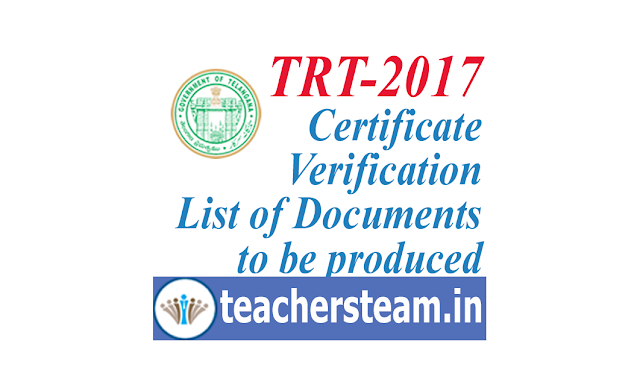 trt certificate verification- list of documents