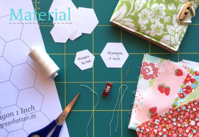 Tutorial | Material für Hexies (English Paper Piecing)