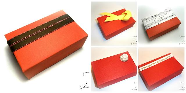decoración para cajas de regalos