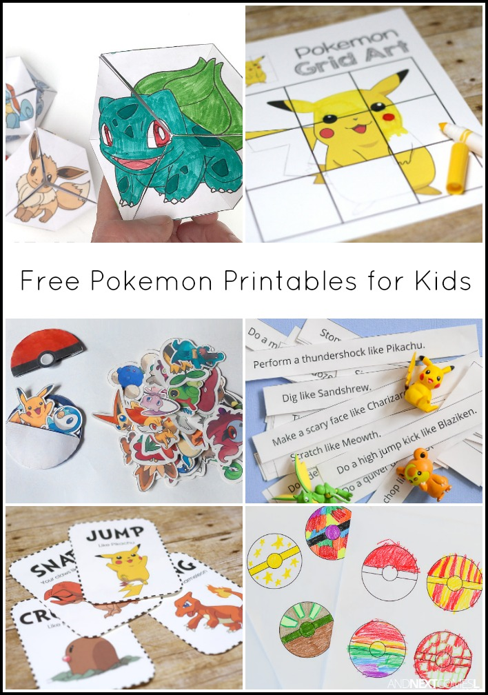 Free pokemon printables for kids and next comes l for Pokemon templates print