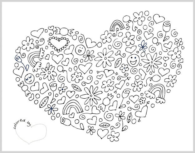 Heart Hard Coloring Pages