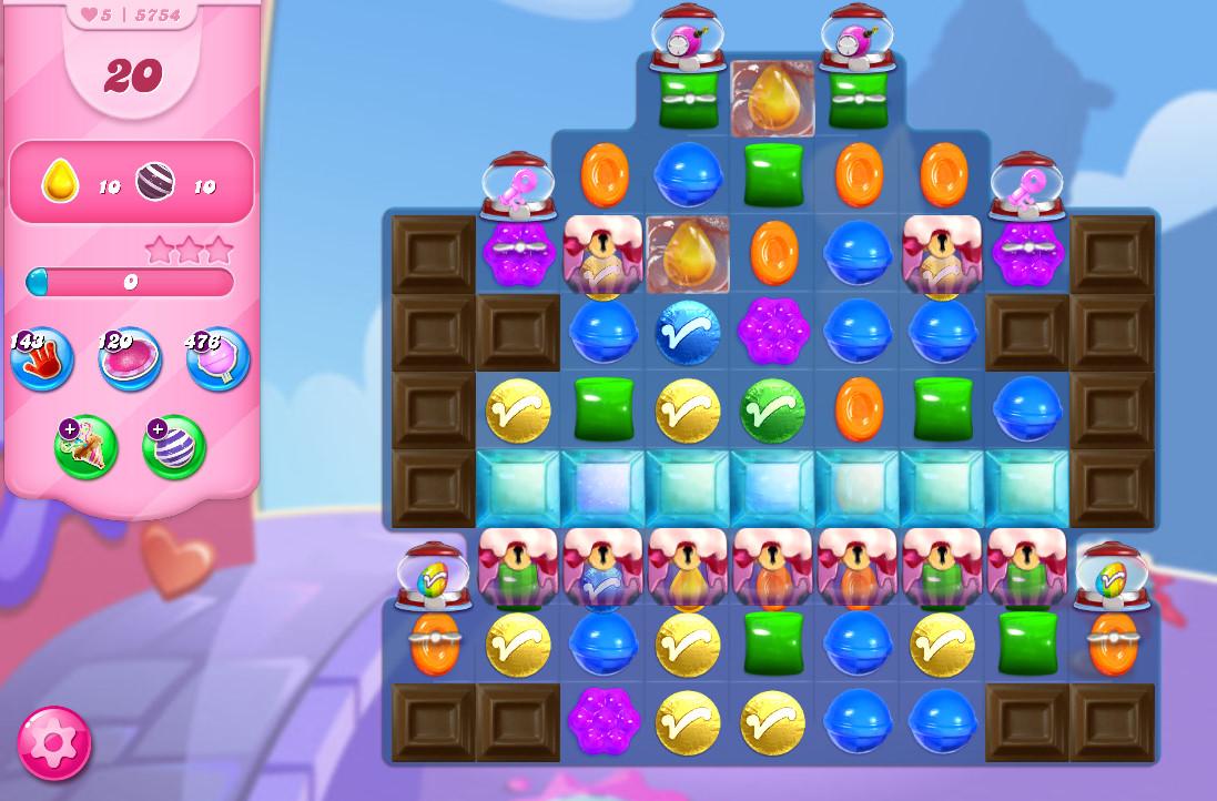 Candy Crush Saga level 5754