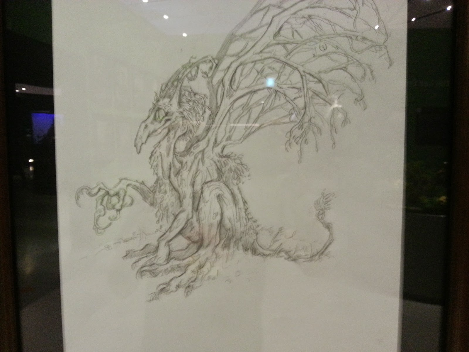 Pencil art plant dragaon?