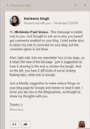 An Advise by Harleena Singh to Blogging Funda