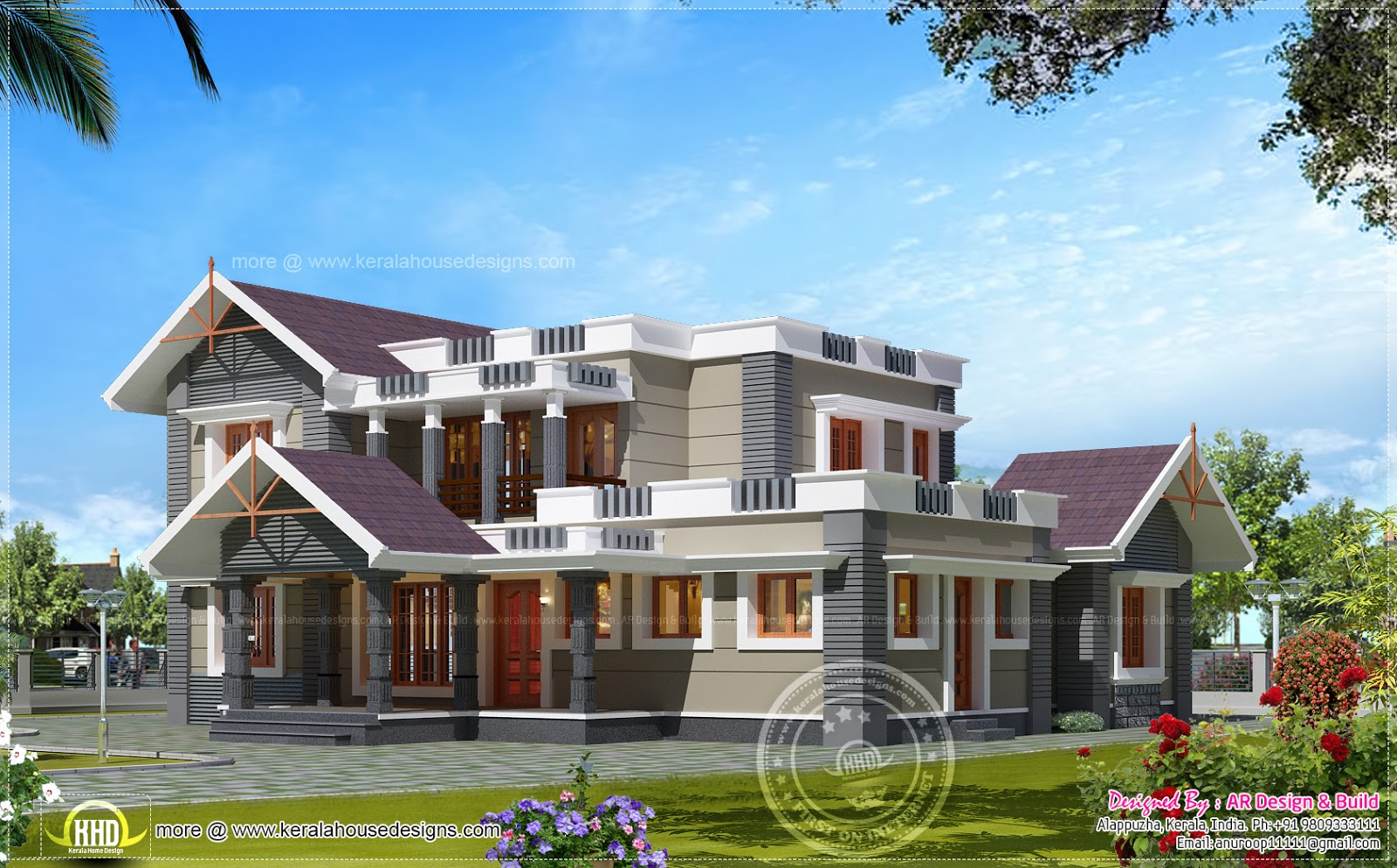 4 bhk house exterior design in 2600 kerala home for 800 sq ft house plans kerala style