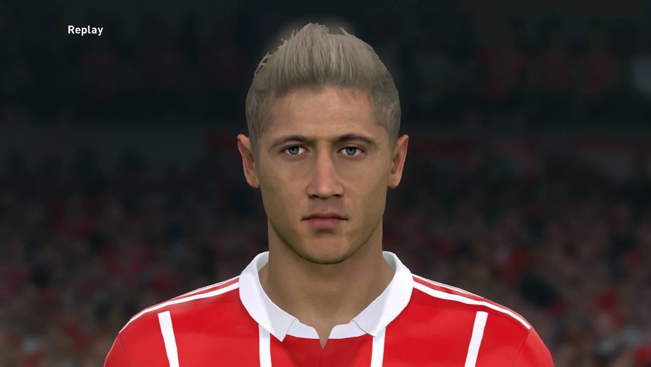 PES 2017 Lewandowski face update by Sameh Momen