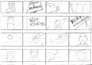 "©2013 Snow Patrol's ""The Lightning Strike"" Storyboards (1 of 6). Artwork by Dulani Wilson. All rights reserved to respective owners."