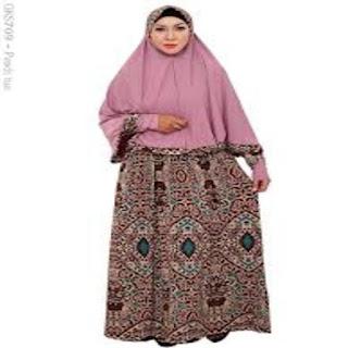 model gamis batik untuk orang gemuk dan pendek