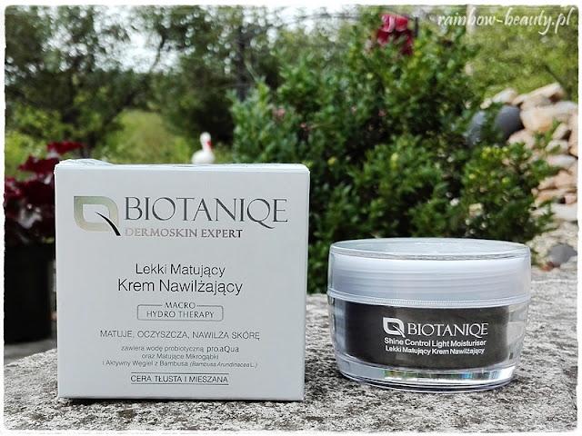 BIOTANIQE-Dermoskin-Expert-Shine-Control-Light-Moisturiser-matujacy-krem-cera-tlusta-mieszana-opinie-blog