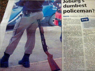 johannesburg policeman sitting on shotgun funny