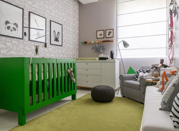 Интерьер детской комнаты для малыша в нейтральной палитре и освежающий зеленый!