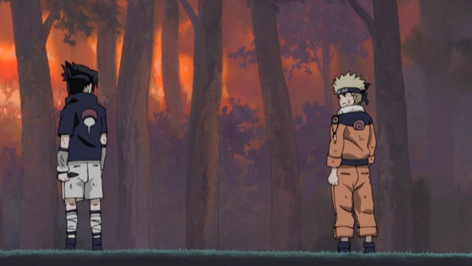 Naruto y Sasuke rivales