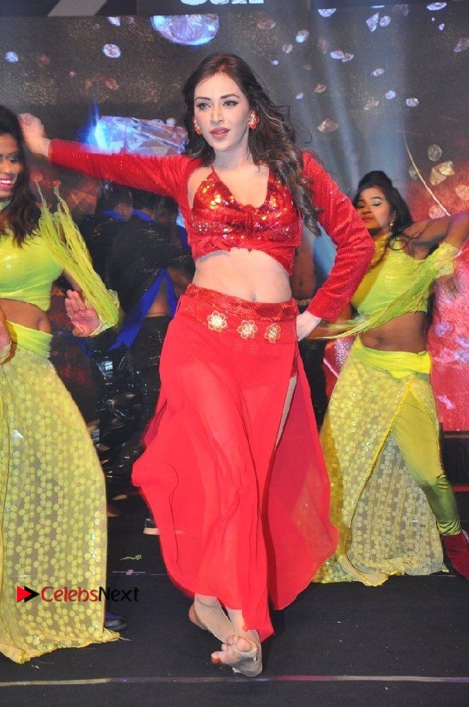 Angela Krislinzki Spicy Dance Performance in Red Dress at Rogue Audio Launch 13 March 2017