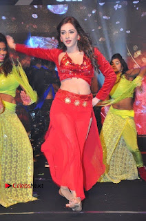 Telugu Actress Angela Krislinzki Spicy Dance Performance in Red Dress at Rogue Audio Launch 13 March 2017  0018.jpg