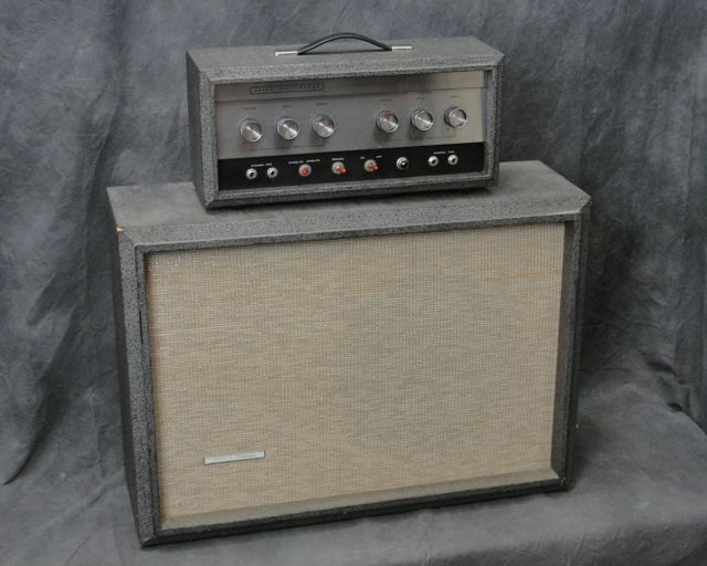 he saved up his school lunch money and sent off for a sears 1483 and a  matching 1444 dano made single cutaway-single pickup bass