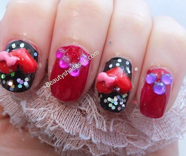 Nails 3D Hearts