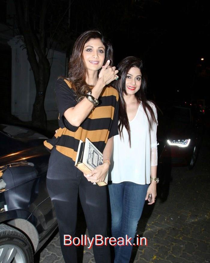 Shilpa Shetty, Shamita Shetty, Hot HD Pics of Shilpa Shetty Shamita Shetty From 'Dil Dhadakne Do' Trailer Launch at Anil Kapoor Residence