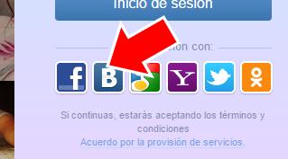 Iniciar sesion Wamba con Facebook