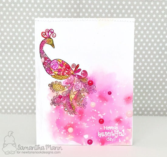 Peacock card by Samantha Mann | Beautiful Plumage Stamp set by Newton's Nook Designs #newtonsnook