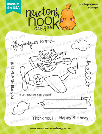 Newton's Nook Designs Winston Takes Flight Stamp Set