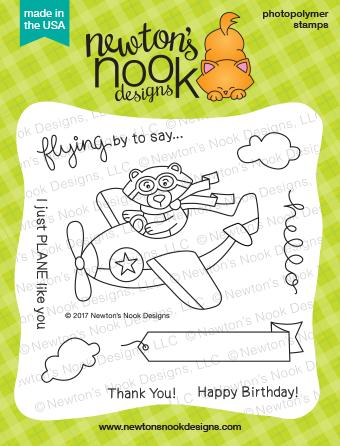Newton's Nook Designs Winston Takes Flight Stamp Set