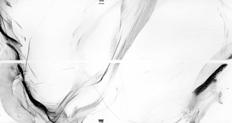 Annik Reymond - fusain 40 cm x 17 mètres, détail 3