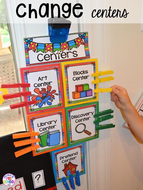 Center Time Management for Preschool and Pre-K - Pocket of ...