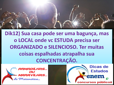 DICA 12 LOCAL DE ESTUDO