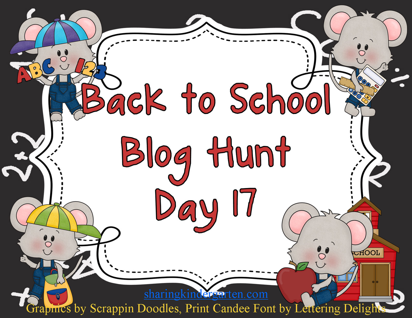 Back To School Blog Hunt With A Kindergarten Rhyme