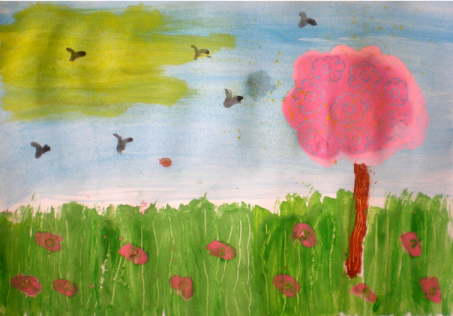 Cireș în floare