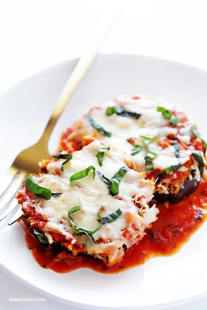 Μελιτζάνες με Παρμεζάνα - Baked Eggplant Parmesan