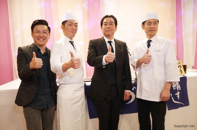 Chef Shogo Sasaki with VIPs
