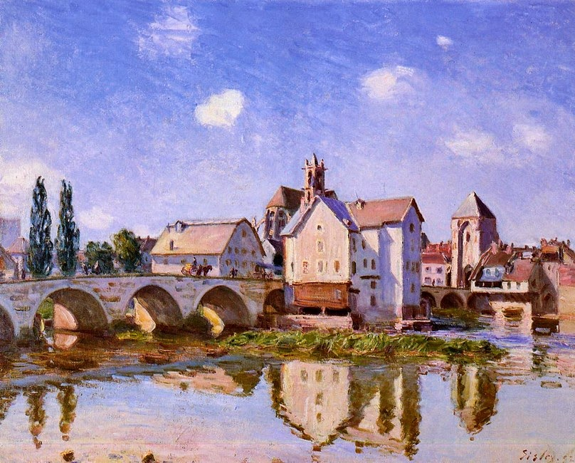 Ponte Moret na Luz Solar - Alfred Sisley ~ Um dos mais representativos paisagistas do impressionismo