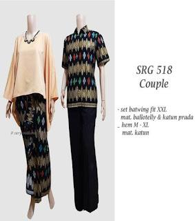 gambar model baju batik setelan modern