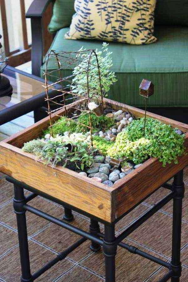 Desain Taman Minimalis dalam Rumah di Lahan Sempit
