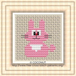 Rabbit, Free and easy printable cross stitch pattern